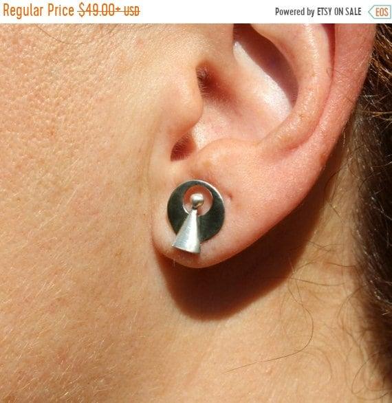 black friday sale Star Trek IDIC stud earrings pair, trekkies jewelry, sci-fi jewelry, Live Long and prosper handmade sterling silver mother