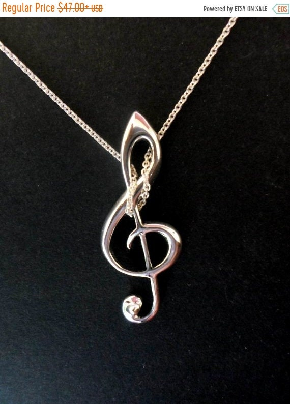 black friday sale G key, G clef pendant, musicians jewelry, for music lovers silver handmade G key jewelry, sterling silver musician special