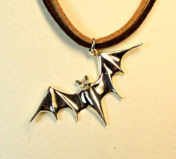Bat jewelry, batman jewelry, bat pendant, vampire symbol, chiroptera, handmade jewelry, solid sterling silver mother's day jewelry