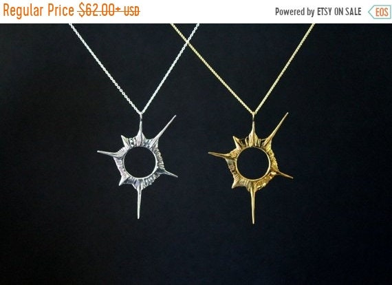 black friday sale Solar eclipse, the original, anniversary necklace, Star, sci-fi universe, shining star, fine jewelry, sterling silver hand