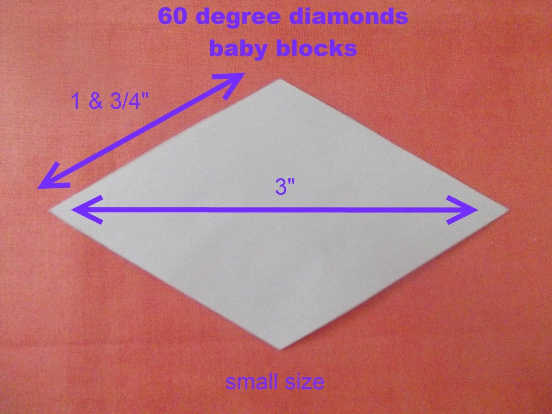 100 plantillas de diamante 60 grados para Patchwork | Etsy