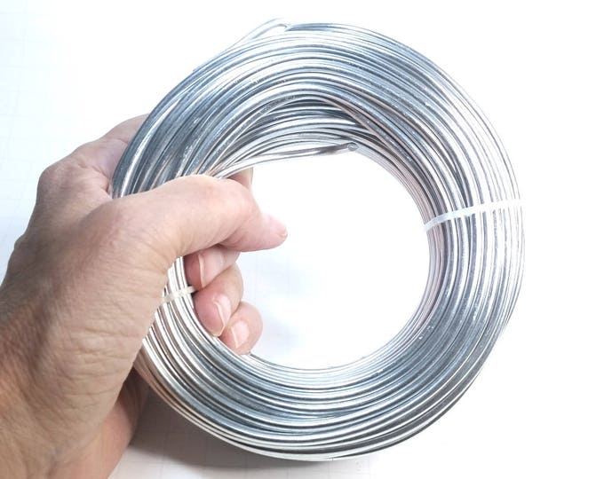 Bulk Aluminum Wire, Round Silver Color, 500 Grams, Choose Sizes from 8 Thickness 0.6mm to 6.0mm, (approx. 23 gauge up to 3 gauge)