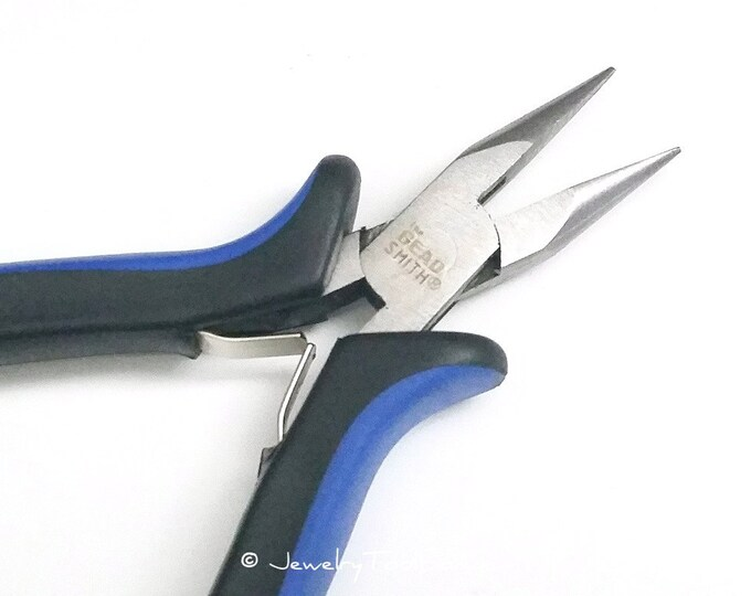 Chain Nose Pliers, Jewelry Making Tools, Ergonomic Grip Handles, Box Joint, Return Leaf Spring, Beadsmith Brand, #1162 53