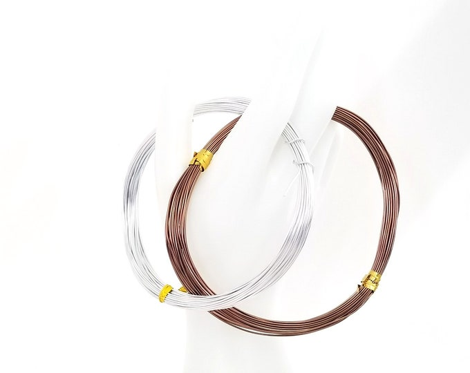 Aluminum Wire, 20 Gauge, 0.8mm Round, 60 Feet (20 Meters), Choose Your Color, Anodized Permanent Colors