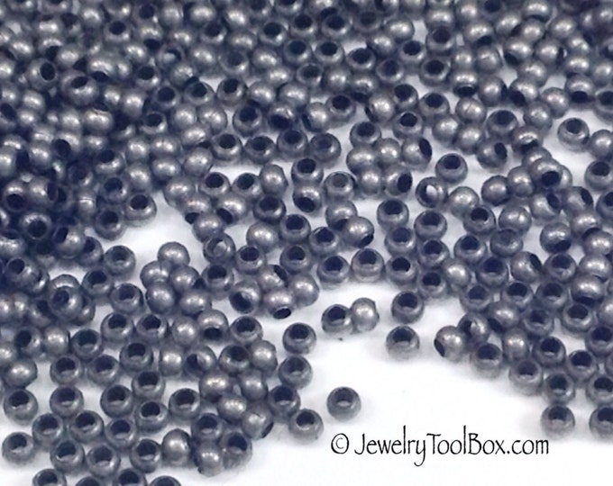 15/0 Seed Beads, Metal, Size 15, MATTE ZINC Plated, 1x1.5mm, Brass Spacers, Made in the USA, Lead Free, Lot Size 5 to 15 grams, #1468