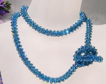 TUTORIAL -  Woven Rope Tutorial Necklace & Bracelet Instructions, PDF file only