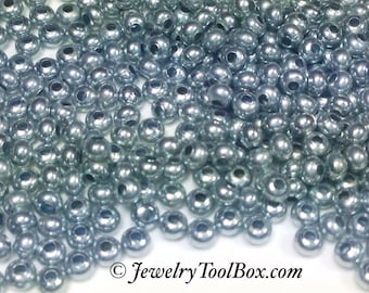 Metal Seed Beads, 8/0, Size 8, ZINC Plated, 2x3mm, Brass Spacers, Made in the USA, Lead Free, Lot Size 36 grams, #1426