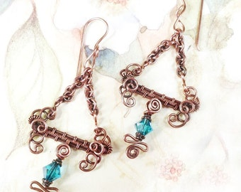 TUTORIAL -  Woven Wire Jewelry Making Tutorial, Balance Earrings, PDF file only