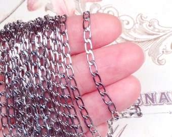 Twist Chain, Stainless Steel,316L, 3x6x1mm, Hypoallergenic, Non Tarnish, Lot Size 5 to 15 feet, #1917