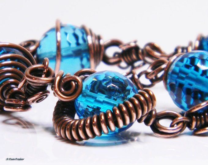 TUTORIAL - Wrapped Bead Bracelet with Wrapped Infinity Links,  PDF download only