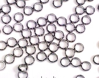 Stainless Steel Rings, Big Hole Bead Links, 5x2mm, 3mm Hole, Charm Bracelet Links, Bracelet Connector, Lot Size 10 to 50, #1452