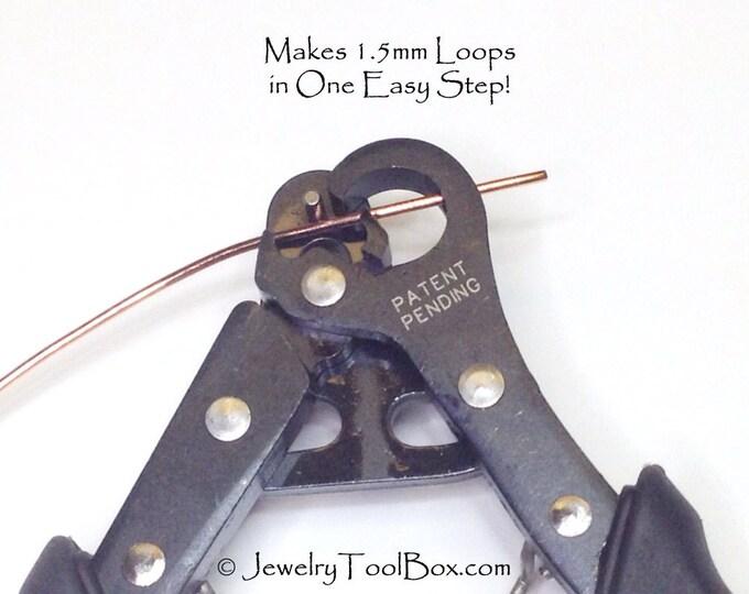1 Step Looper, Loop Making Pliers, Make Your Own Eye Pins, 1.5mm Loops, Jewelry Making Pliers, Create and Trim Loops in One Step, #1152 32