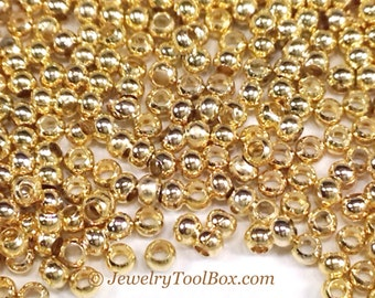 15/0 Seed Beads, Metal, Size 15, 24K GOLD Plated, 1x1.5mm, Brass Spacers, Made in the USA, Lead Free, Lot Size 15 grams, #1461
