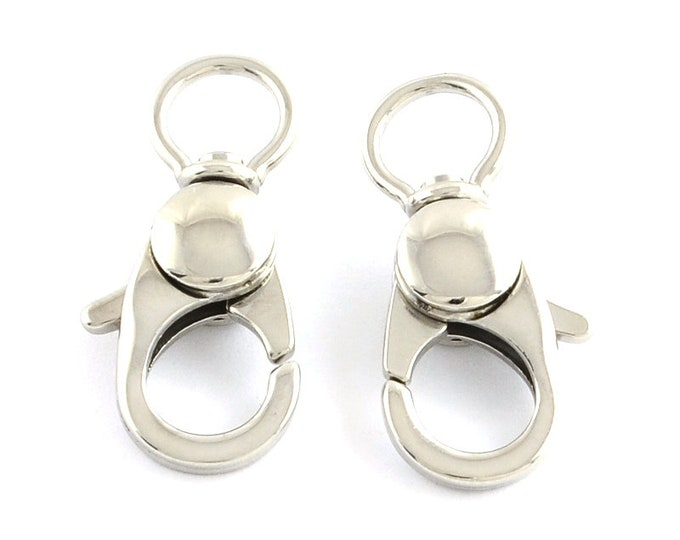 Swivel Lobster Clasp, 25mm Stainless Steel Jewelry Making Supplies, 25x16.5x5mm, Hypoallergenic, Non-Tarnish, Lot Size 1 to 10 Clasps, #1361