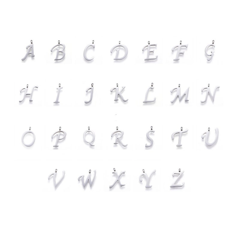 Letter Pendants Stainless Steel Choose Your Initial About image 0