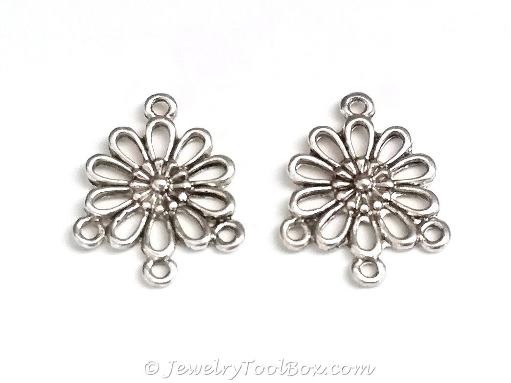 Chandelier daisy earring finding antique silver flower earring chandelier daisy earring finding antique silver flower earring parts nickel free 18x22mm 15mm loops lot size 10 to 50 2139 izmirmasajfo