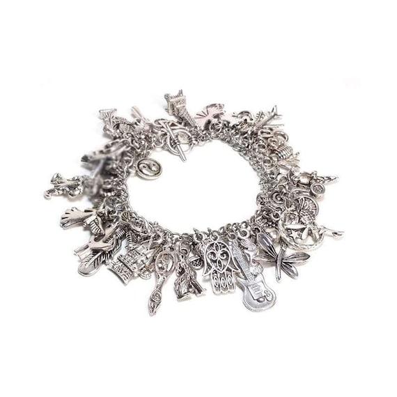 Charm Bracelet Kit Do It Yourself Jewelry Making Kit Over 50 Etsy