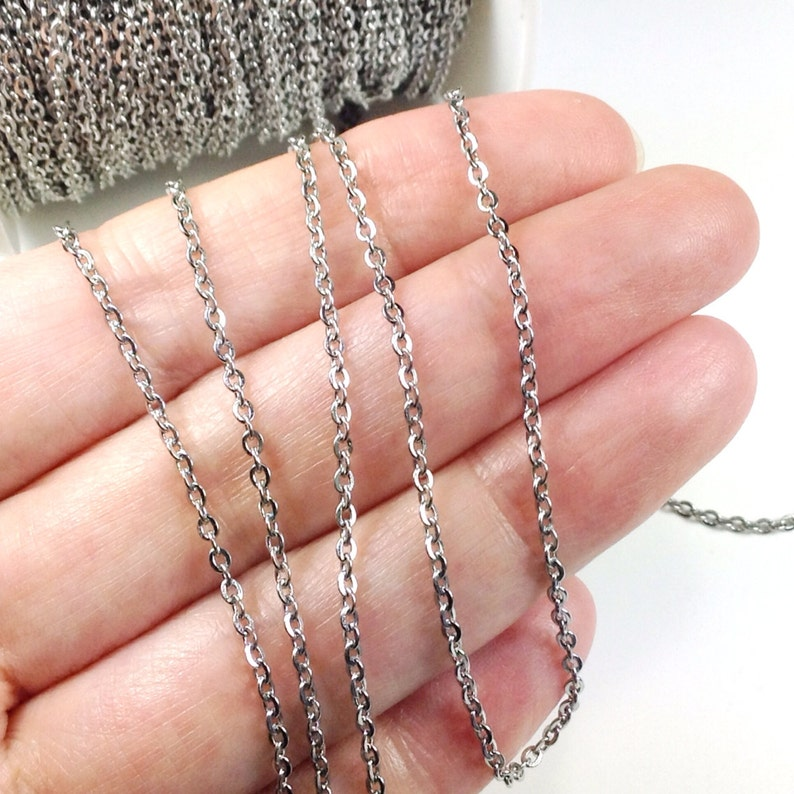 Stainless Steel Chain Bulk Chain Jewelry Making Chain Fine image 0