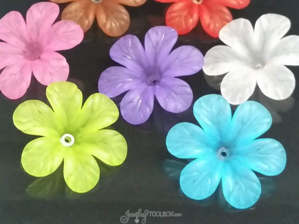Assorted Color Flower Beads Large Daisy Flower Beads Color
