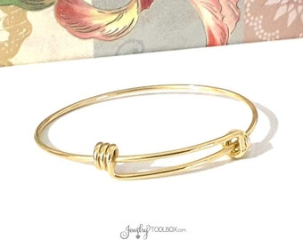 Gold Bracelet Bangle Jewelry Component, 2mm Thick, Charm Bracelet, Gold Stainless Steel Jewelry Making Supplies, 60mm wide, Lot Size 1 to 10