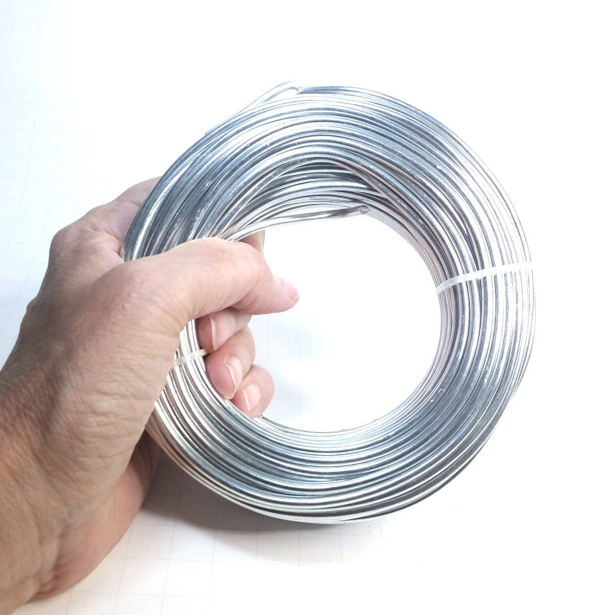 Bulk Aluminum Wire, Round Silver Color, 500 Grams, Choose Sizes from ...