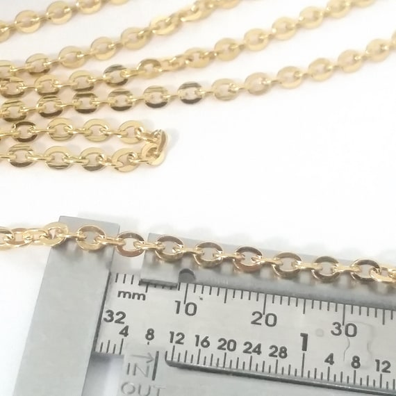 2 Metres x Thick Oval Cross Cut Chain 3x4mm Jewellery Making