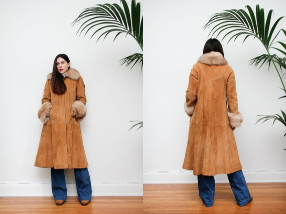 Vintage Afghan Real Sheepskin Fur Real Fur Tibetan