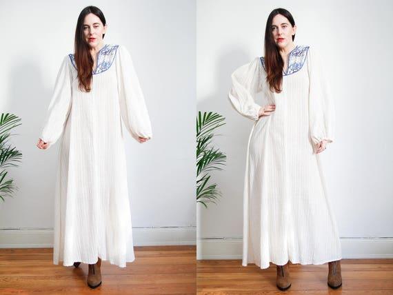 Vintage Indian Cotton Dress Boho Dress Hippie Dres