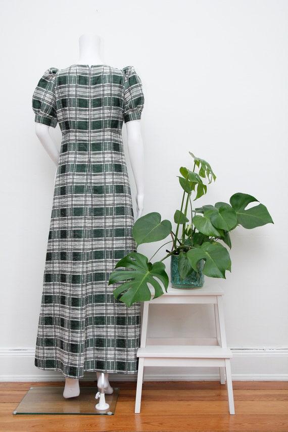 Vintage Cotton Prairie Floral Peasent Maxi Dress - image 9