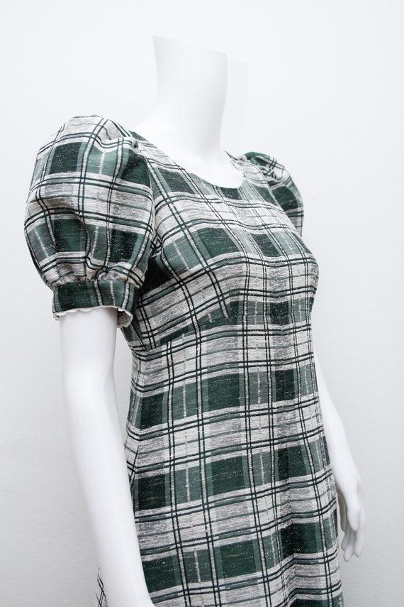 Vintage Cotton Prairie Floral Peasent Maxi Dress - image 4