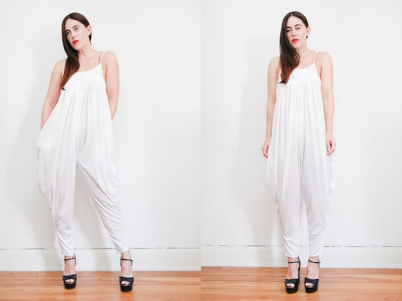 Vintage 70's Indian Grecian Pants Palazzo Jumpsuit