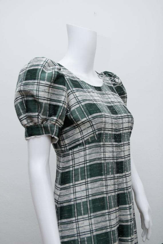 Vintage Cotton Prairie Floral Peasent Maxi Dress - image 6