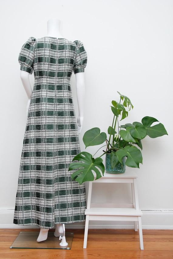 Vintage Cotton Prairie Floral Peasent Maxi Dress - image 8