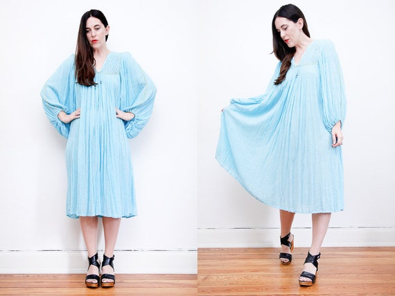 Vintage Indian Cotton Boho Dress Hippie Dress Ethn