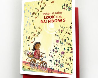 Look for Rainbows, Thinking of You Cards, Cheer Up Card, Get Well Card, Lockdown Card, Blank Card, Cheer Up Cards, Quarantine Cards, Rainbow