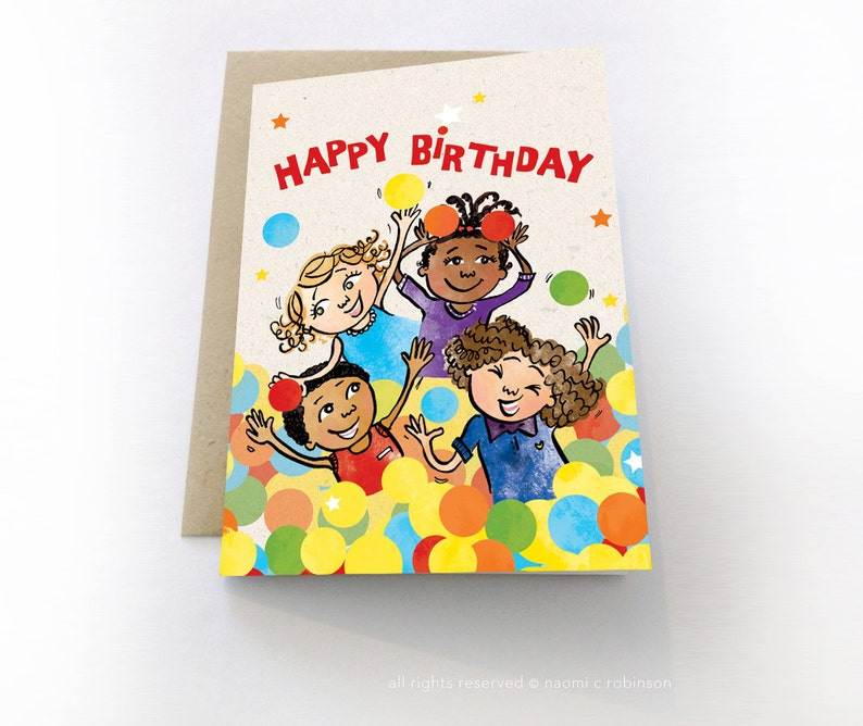 Happy Birthday Card Multicultural Cards Childrens