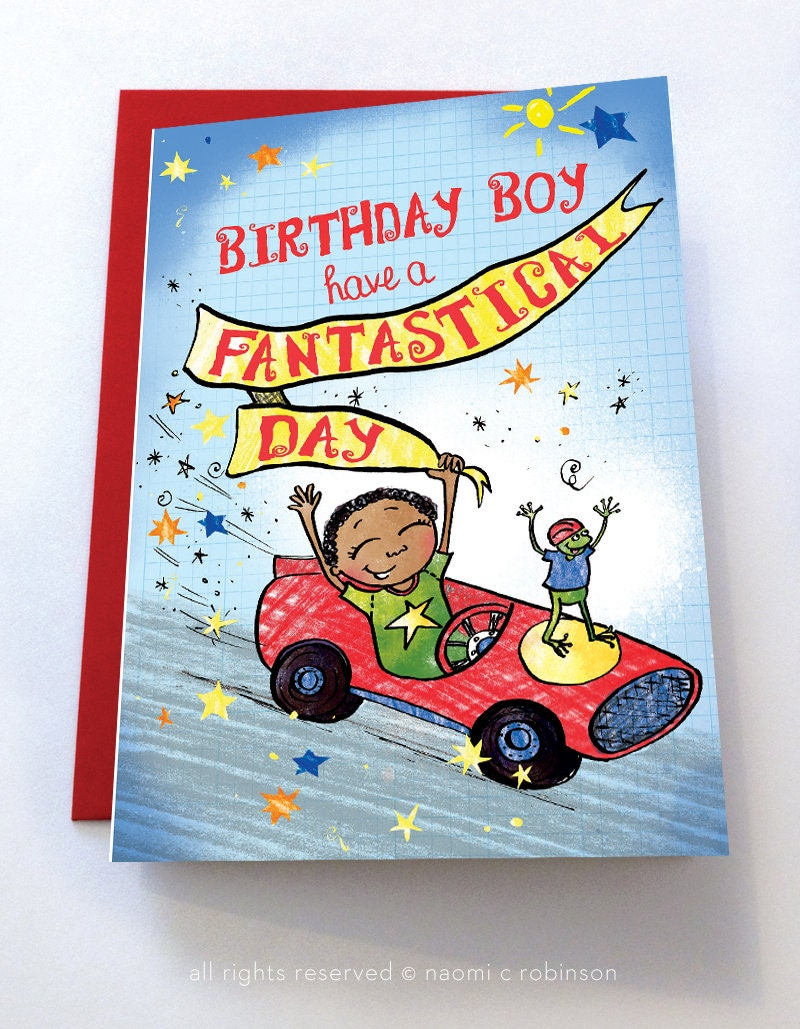 Multicultural Birthday Cards Black Boys Asian Mixed Race Etsy