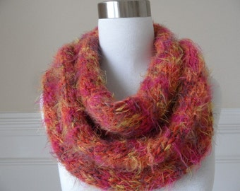 Golden Amber Infinity Scarf