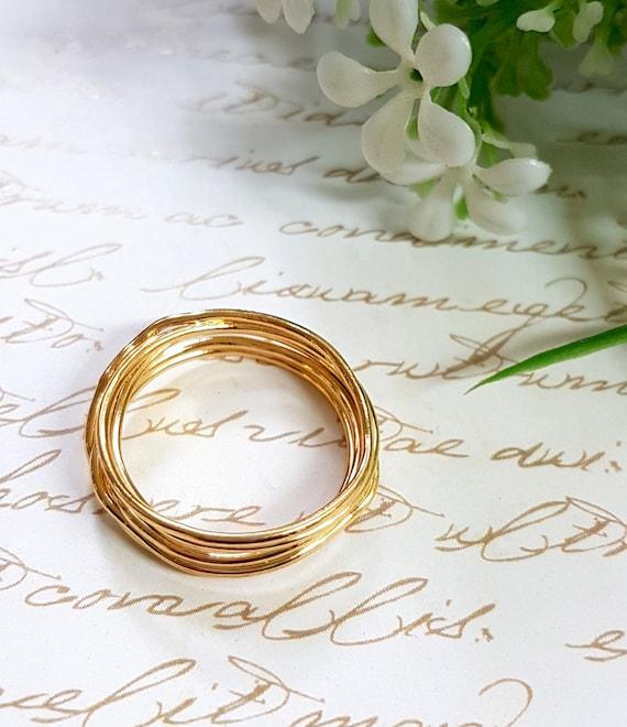 Ring aus Gold Draht Draht umwickelt Ring einzigartige Gold | Etsy