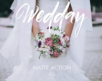 Wedding Photoshop Action - Wedday - matte action, natural action for wedding & event photography, Photoshop CS4, CS5, CS6, CC 2014, CC 2015