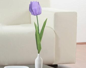 Origami Tulip Flower Unique Flowers Table Decoration Wedding