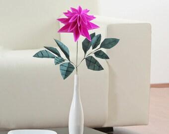 Dahlia Flower, Origami Flower, Dahlia, Unique Flower, Dahlia Flower, Artificial Flower, Centrepiece Table Decoration, Origami Dahlia