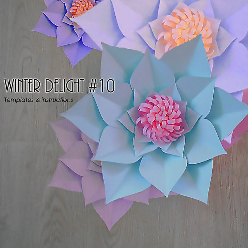Paper Flower Template Pdf Paper Flower Diy Paper Flower Giant Paper Flower Templates Paper Flower Tutorial Paper Flower Instructions