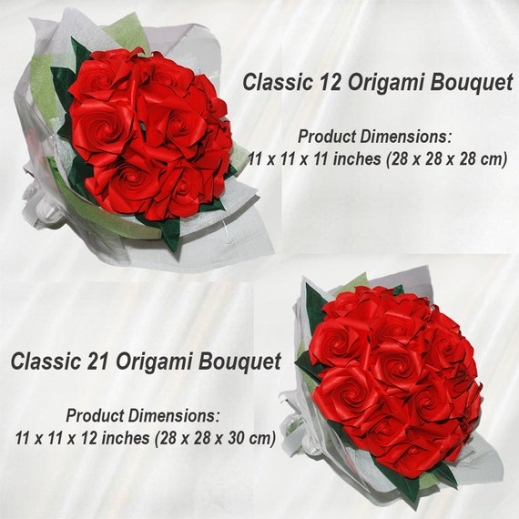 Origami Bridal Bouquet Paper Wedding Bouquet 1st Anniversary Gift College Graduation Gift for Her