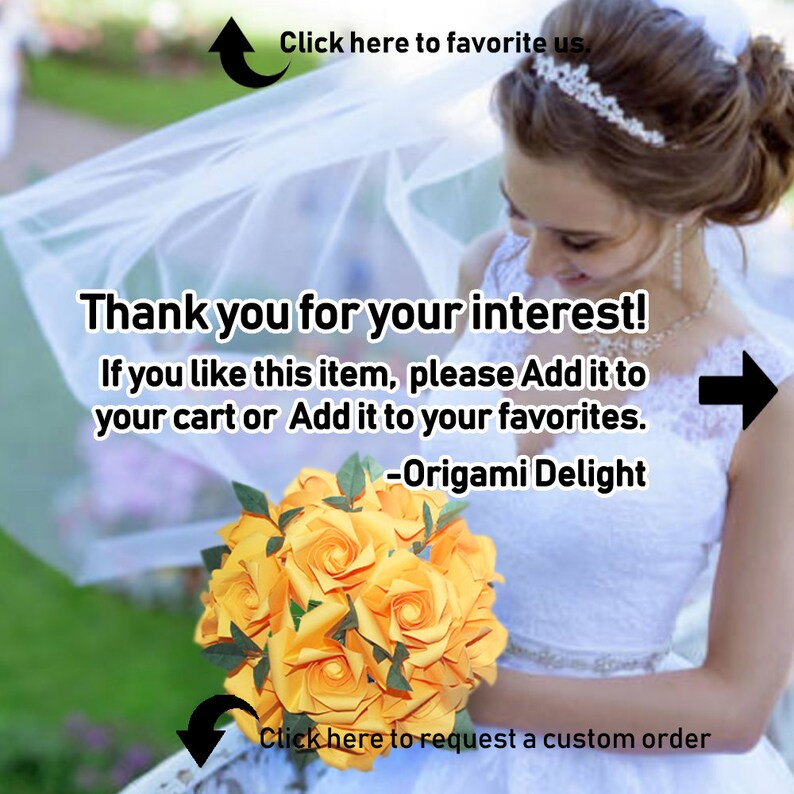 Origami Bridal Bouquet 1st Anniversary Gift Paper Wedding Bouquet College Graduation Gift for Her