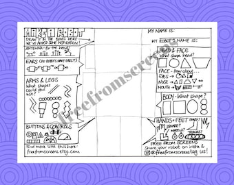 Create Your Own Robot Colouring Page
