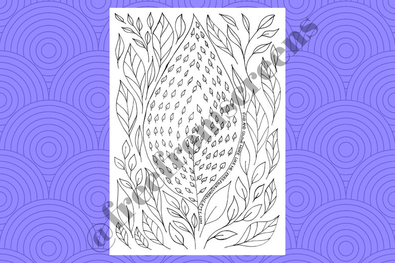 Leaf Simple Zentangle Pattern - Colouring Page - Colouring Sheet - Digital  Download