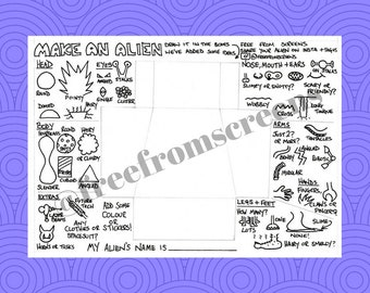 Make Your Own Alien - Colouring and Activity Page