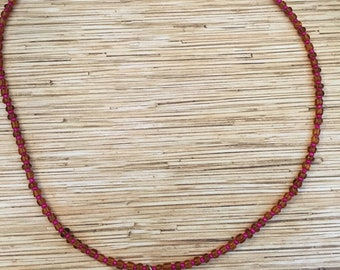 Purple Plumeria Shell Necklace