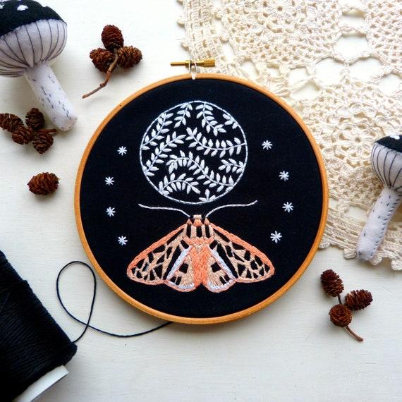Lunar Moth Embroidery Kit